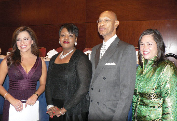 L-R: Robin Meade, Sarahlyn Argrow, Mayor Otis Johnson and Brynn Grant.