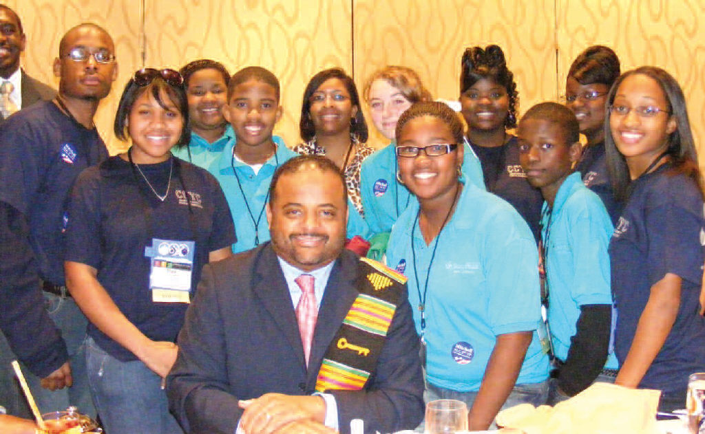Chatham County Youth Commissioners and Savannah Youth Council Members with CNN's Roland Martin.
