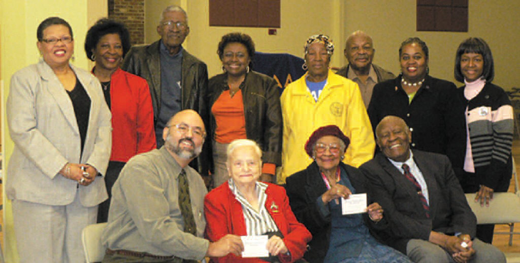 Dr. Martha Fay and Mrs. Sadie Davis Steele received the first two tickets to the Obama Victory Breakfast Celebration to be held December 3, 2008. The ladies are pictured with Dr. Billy Jamison, RMG Museum Board Chairman; Savannah Branch NAACP President Dr. Prince Jackson; and other members of the NAACP.