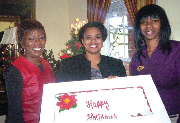 L-R: Cynthia Hall, Belveanna Daniels and Kenya R. Dawsey.