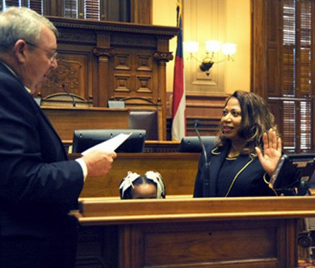 The Honorable Gary B. Andrews, Presiding Judge of the Court of Appeals of Georgia, administered the oath of office to The Honorable M. Yvette Miller.