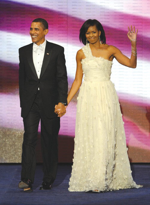 President and First Lady Barack and Michelle Obama at the Neighborhood Inaugural Ball.