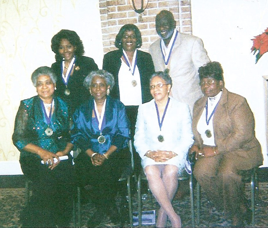 Woodville-Tompkins Alumni Association Class of 1958 held its 50th class reunion on Saturday, December 27, 2008 at the DeSoto Hilton Hotel. Pictured (l-r back): Lillian Rivers, Eliahebah Benlevi and Elijudah Benyisrael. L-r front: Louise Huckabee, Gracie W. Kenon, Daisy C. Wesley, and Ernestine T. Jones.