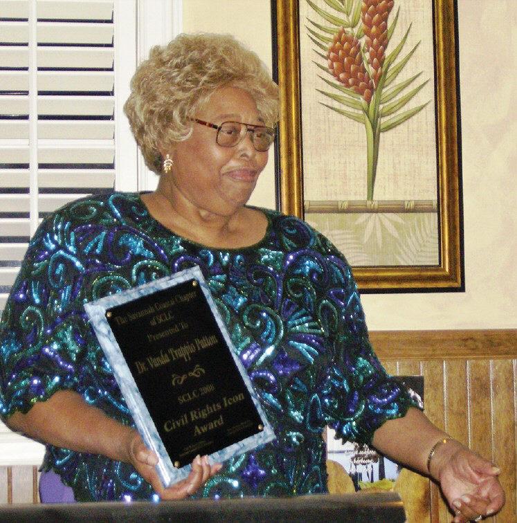 Vanda Trappio Patton, recipient of the Civil Rights Icon Award.