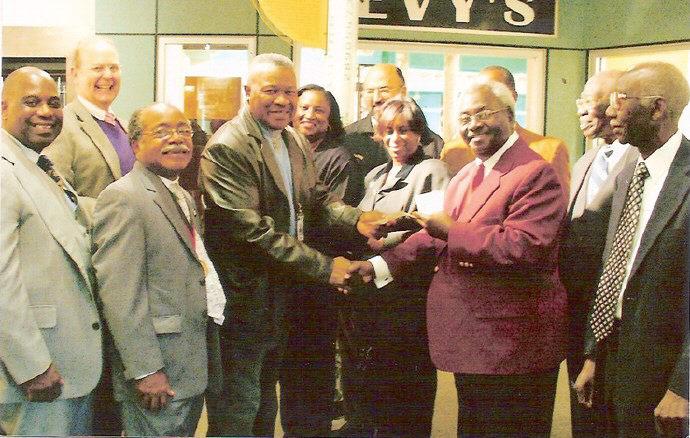 Members of the Association pictured (l-r): Elder Willie Ferrell, Presiding Elder J.E. Taylor, Rev. Nathaniel Small, Sr., President; Rev. Marion Brooks, Rev. Thomas Greene, and Rev. Charlie Fogle.