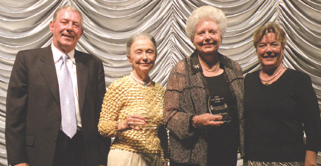 Pictured from L-R, John Patterson, CEO of JCB, Lois Wooten, Mary Morrison, and Dee Williford