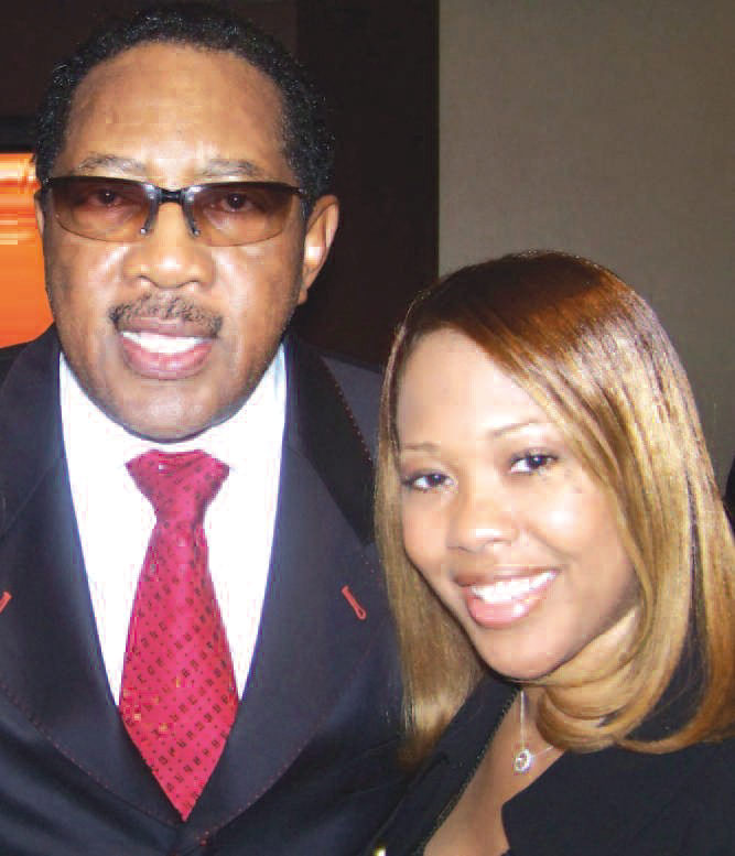 Lori Lewis is pictured with Bobby Jones