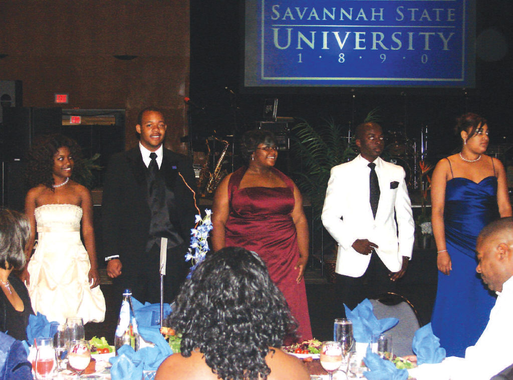 On Friday, May 1, Savannah State University held its annual scholarship gala, the university's premier fundrasier which helps to raise scholarship money for the university's students. Pictured above are students who participated in the Parade of Scholars. The Parade of Scholars spotlights students who will benefit from the funds raised during the gala. Thanks to support from friends and supporters of the university, nearly 125 students benefit from academic scholarships.