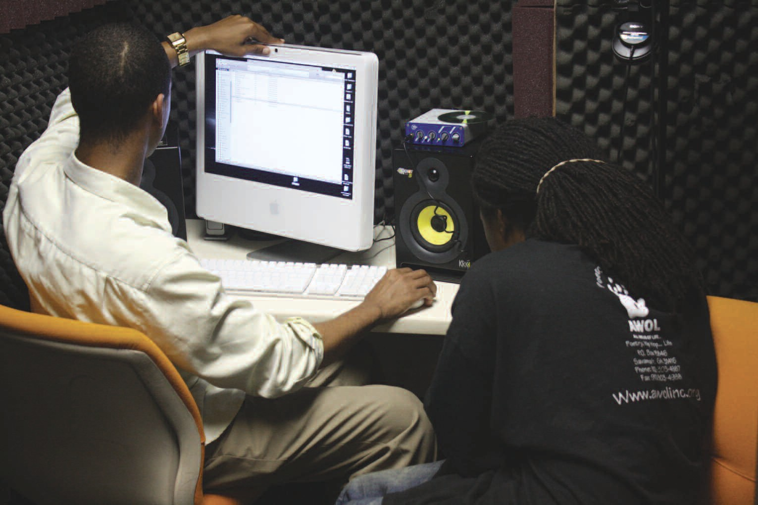 Members of the AWOL Sound Design Class at work