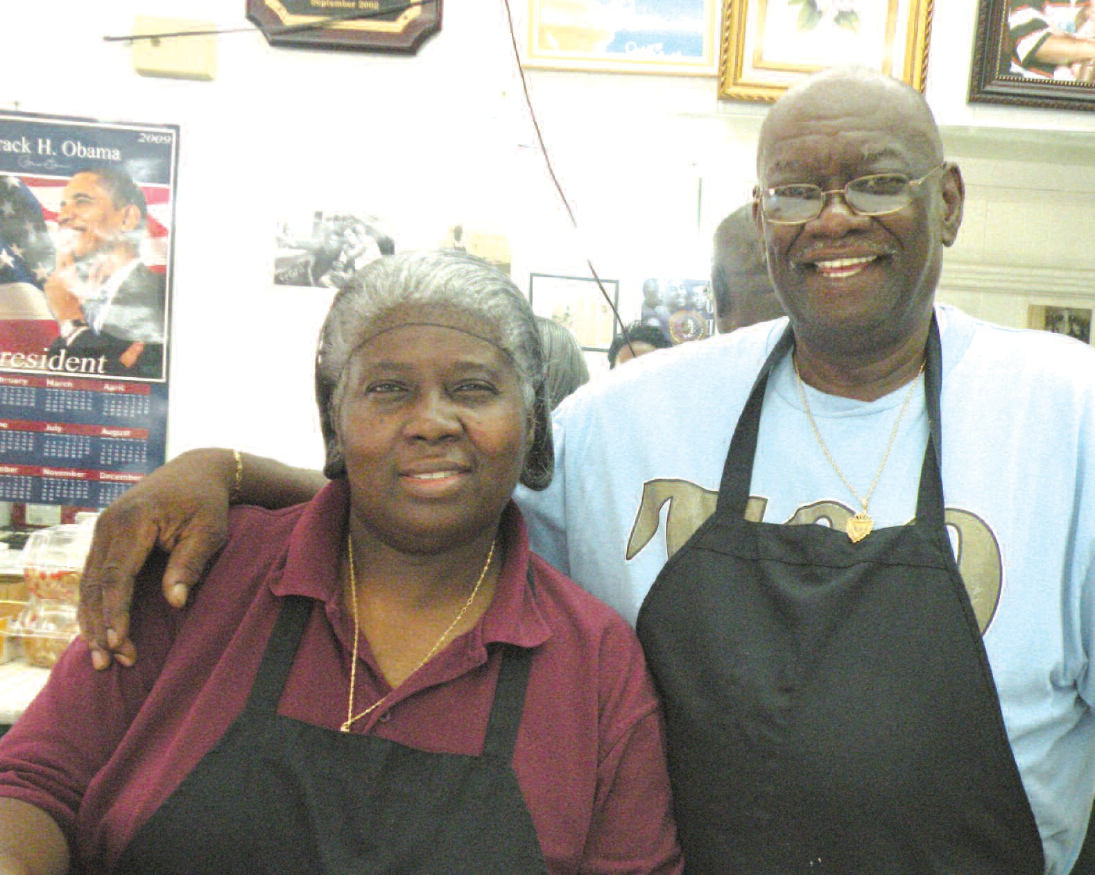 Ida and Willie Gadson, owners of the Neighborhood Soul Food Restaurant