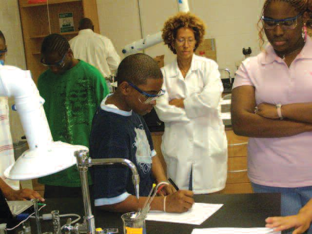 Students participate in forensic experience during summer camp