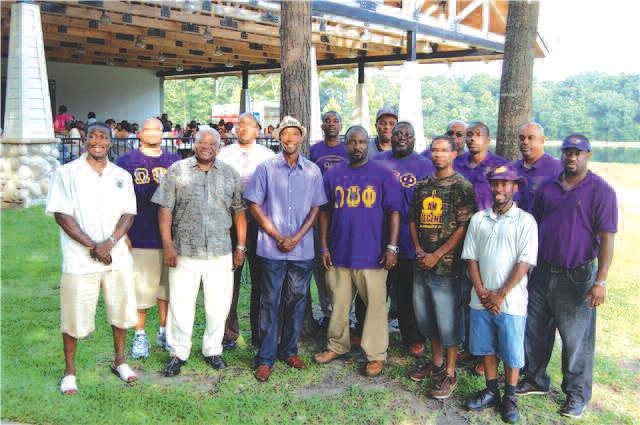 Members of the Mu Phi Chapter of Omega Psi Phi Fraternity, Inc.