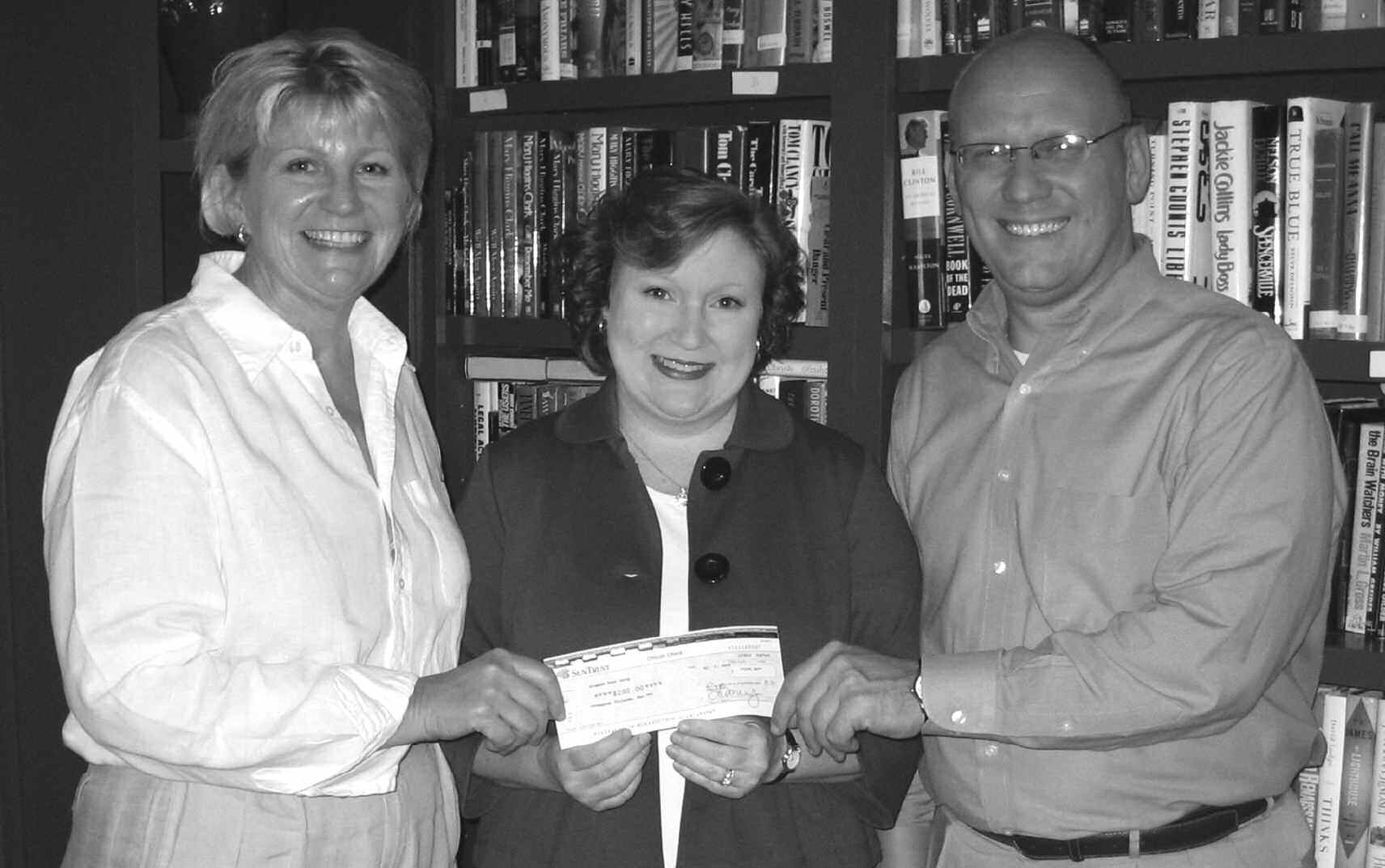 Pictured let to right are: Patti Lyons, President, Senior Citizens, Inc., Tammy Moseley Ray, President, Delta Gamma Savannah Alumnae, and Roger Smith, Director of Community Outreach, Senior Citizen's Inc.