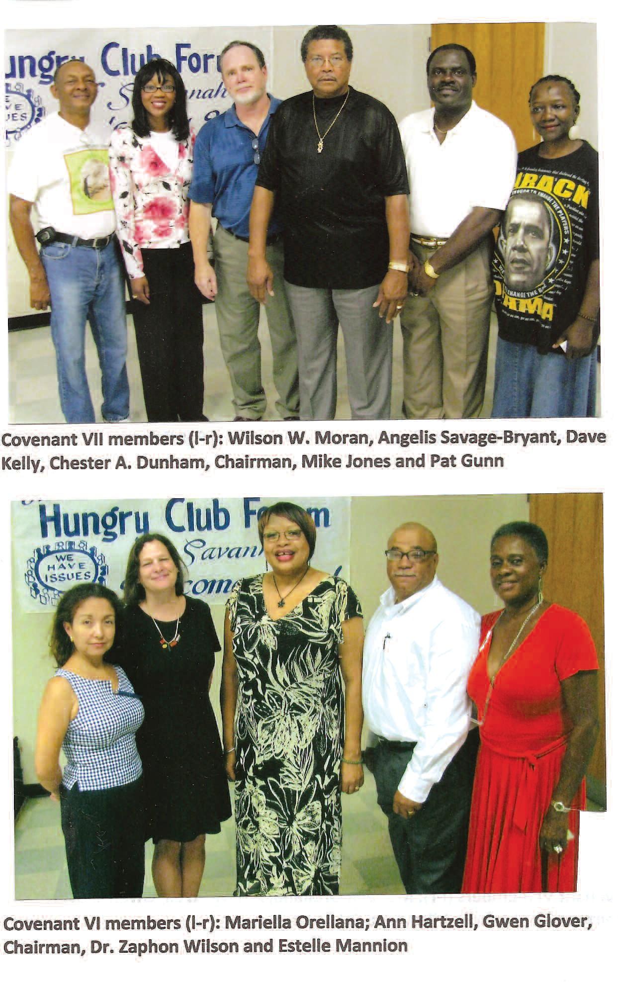 Covenant VI members(l-r): Mariella Orellana, Ann Hartzell,Gwen Glover, Chariman, Dr. Zaphon Wilson, and Estelle Mannion