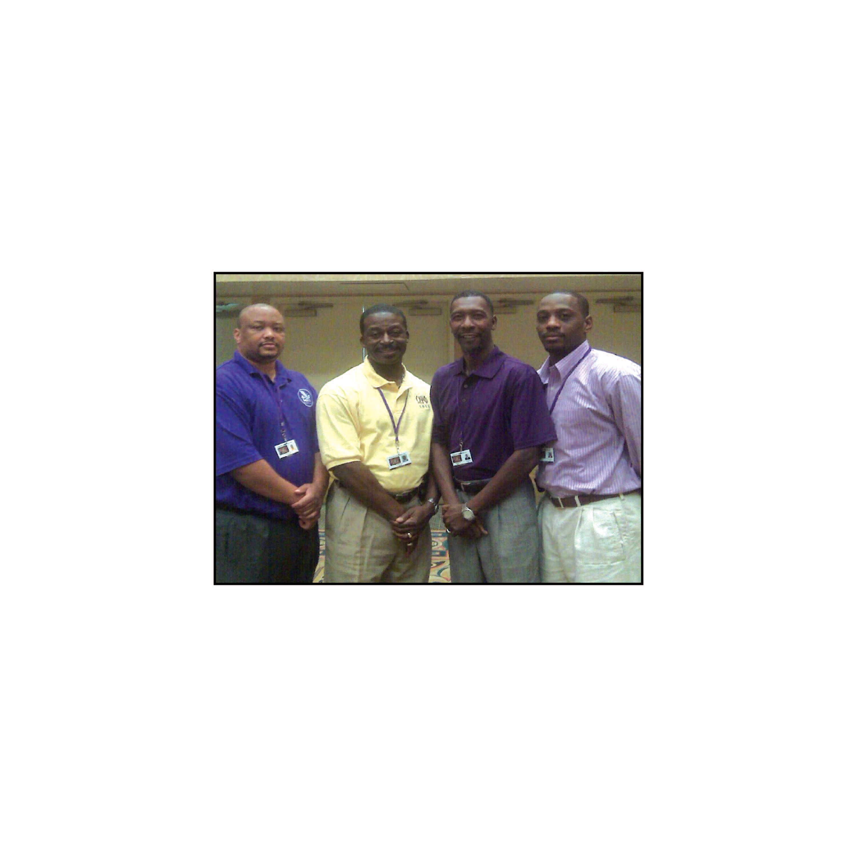 Mu Phi Chapter members, Omega Psi Phi Fraternity, Inc. pose for a picture during Leadership training in Las Vegas, Nevada.
