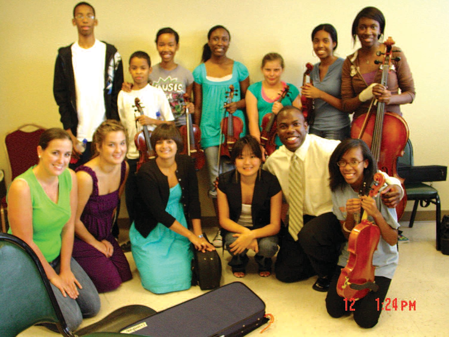 BRAVO and SONATA students are pictured with clinician Joseph Conyers.