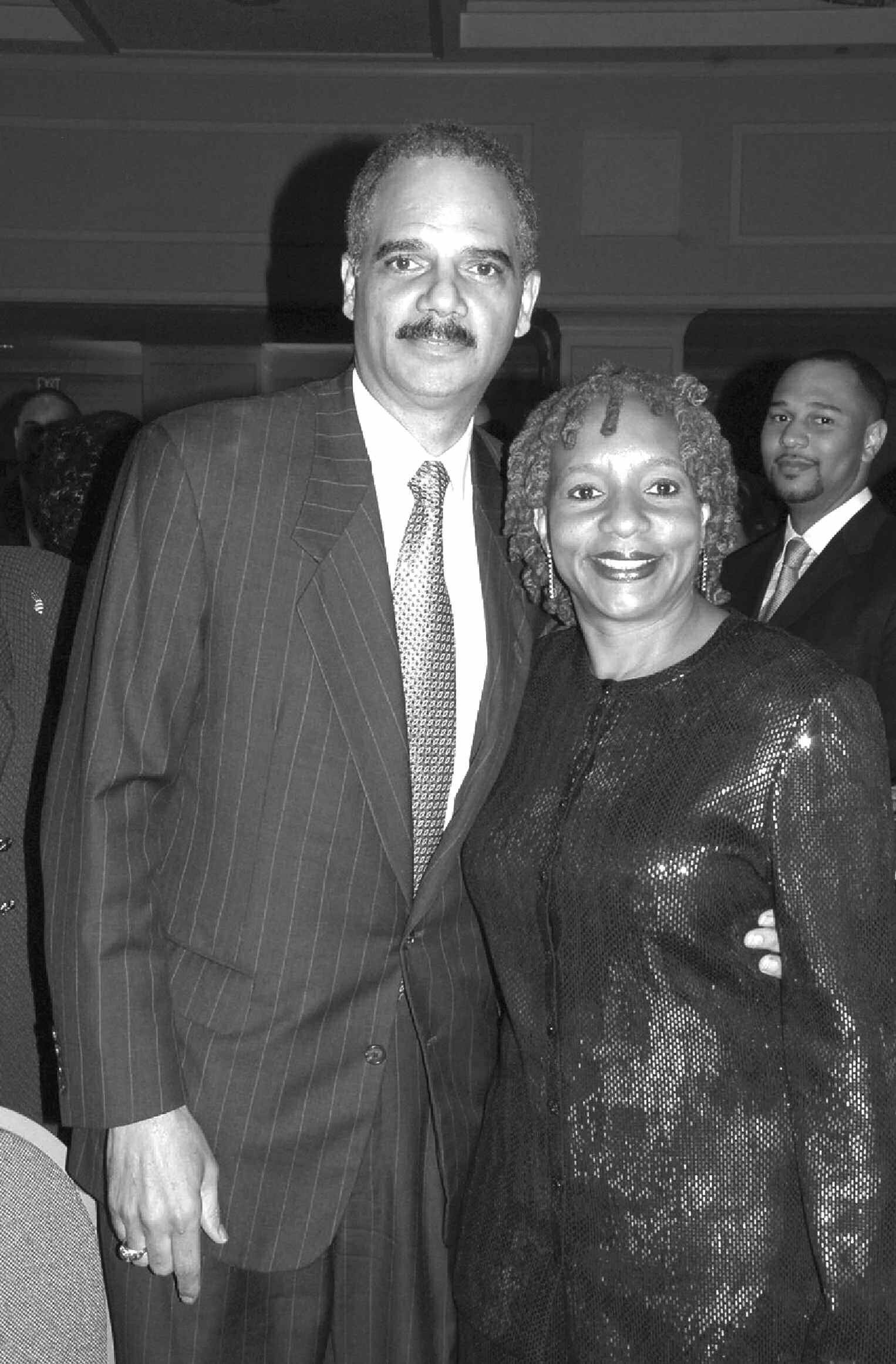 The Honorable Eric Holder, Jr., (left) U.S. Attorney General (left) and Mavis T. Thompson (right), President of the National Bar Association. (Photo by Roy Lewis)