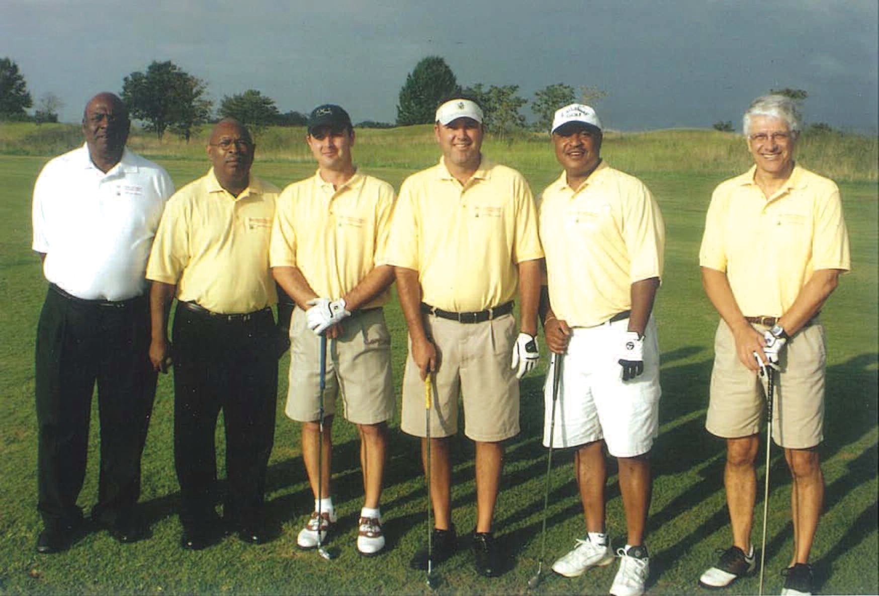 Frankie Thompson Enterprises, Inc. was awarded third place team winners of 2009 Georgia Utility Contractors Association Golf Tournament on September 14, This tournament was established in order to give back to college students that are pursuing construction degree programs as well as other utility contracting career positions. L-R are: Joel Ricks, Frankie Thompson, Greg Young, John Garde, Quinton Standifer, and Craig Zupan.