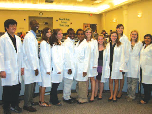 Members of the Explorer Post Receive White Coats