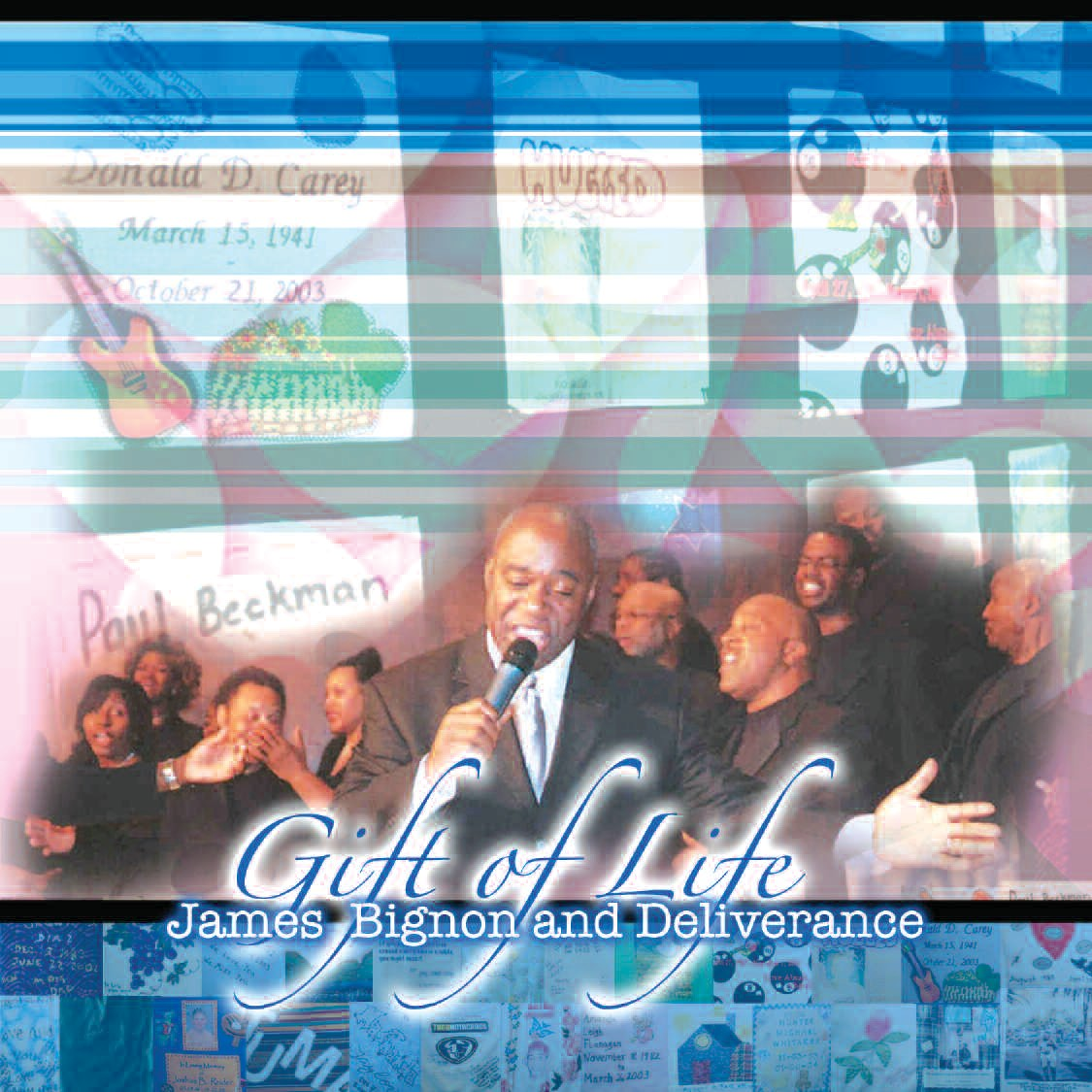 "CD cover for Bignon's latest single ""Gift of Life"""