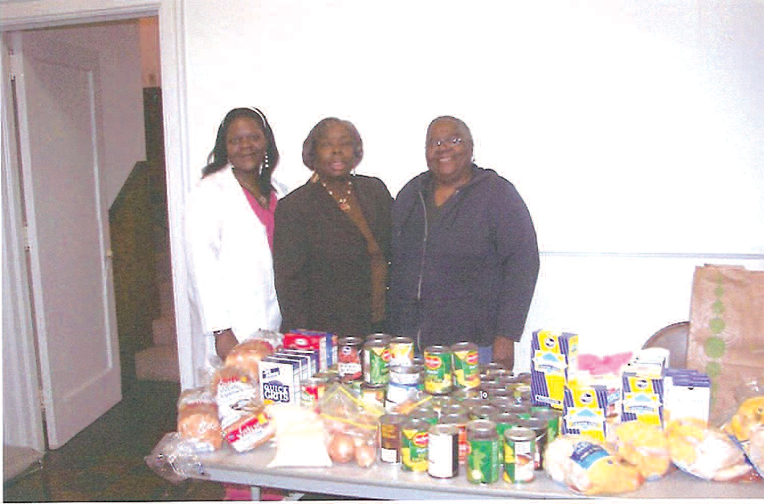 Pictured left to right are Sis. Diane Poole, Financial Secretary, Sis. Alfreda Kimble, Worthy Matron, and Sis, Ruby White, Chaplin.
