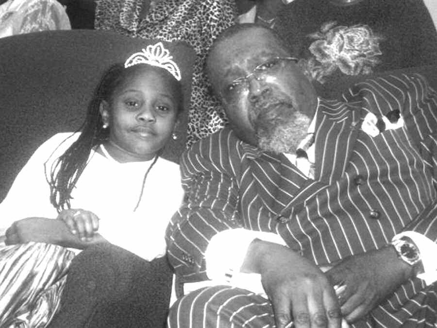 Tiana Thornton is pictured with Pastor Hal McKinley, Sr.