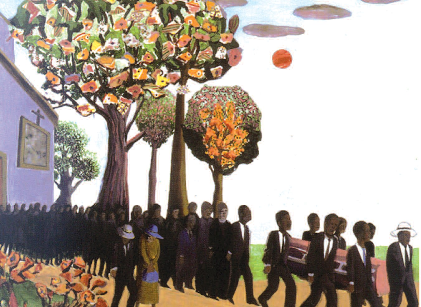 """""""The Funeral Procession"""", by Benny Andrews"""