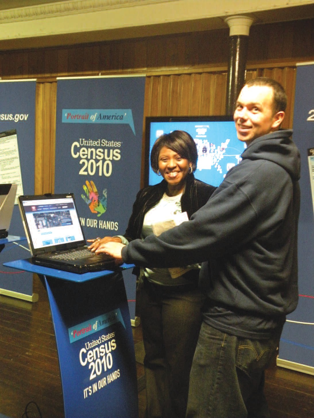 The Census tour features computer kiosks for the guests to experience how easy the registration process can be.