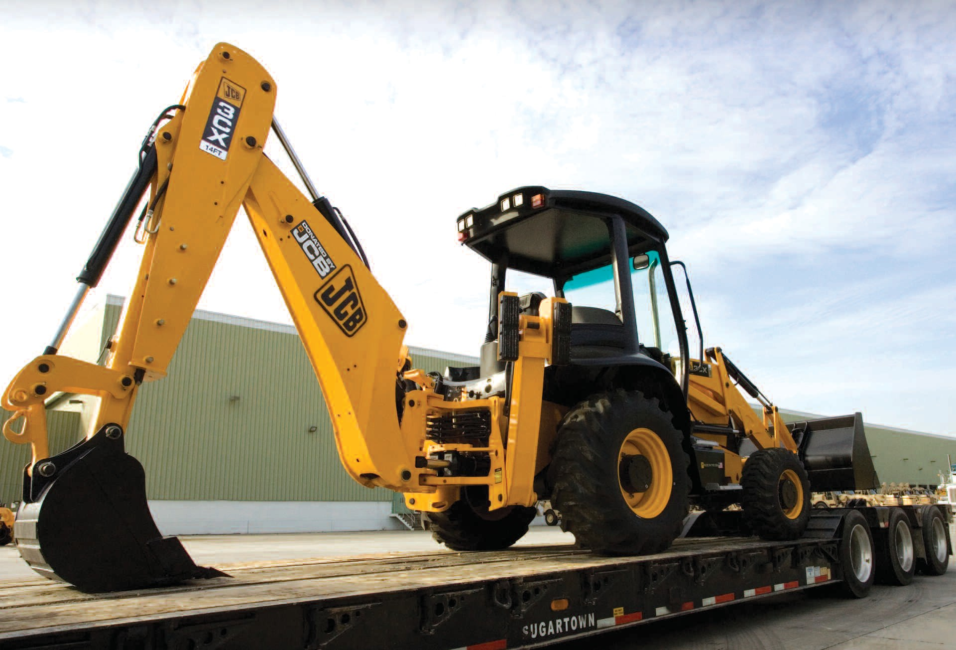 JCB is donating this equipment to be sent to Haiti to help with disaster relief
