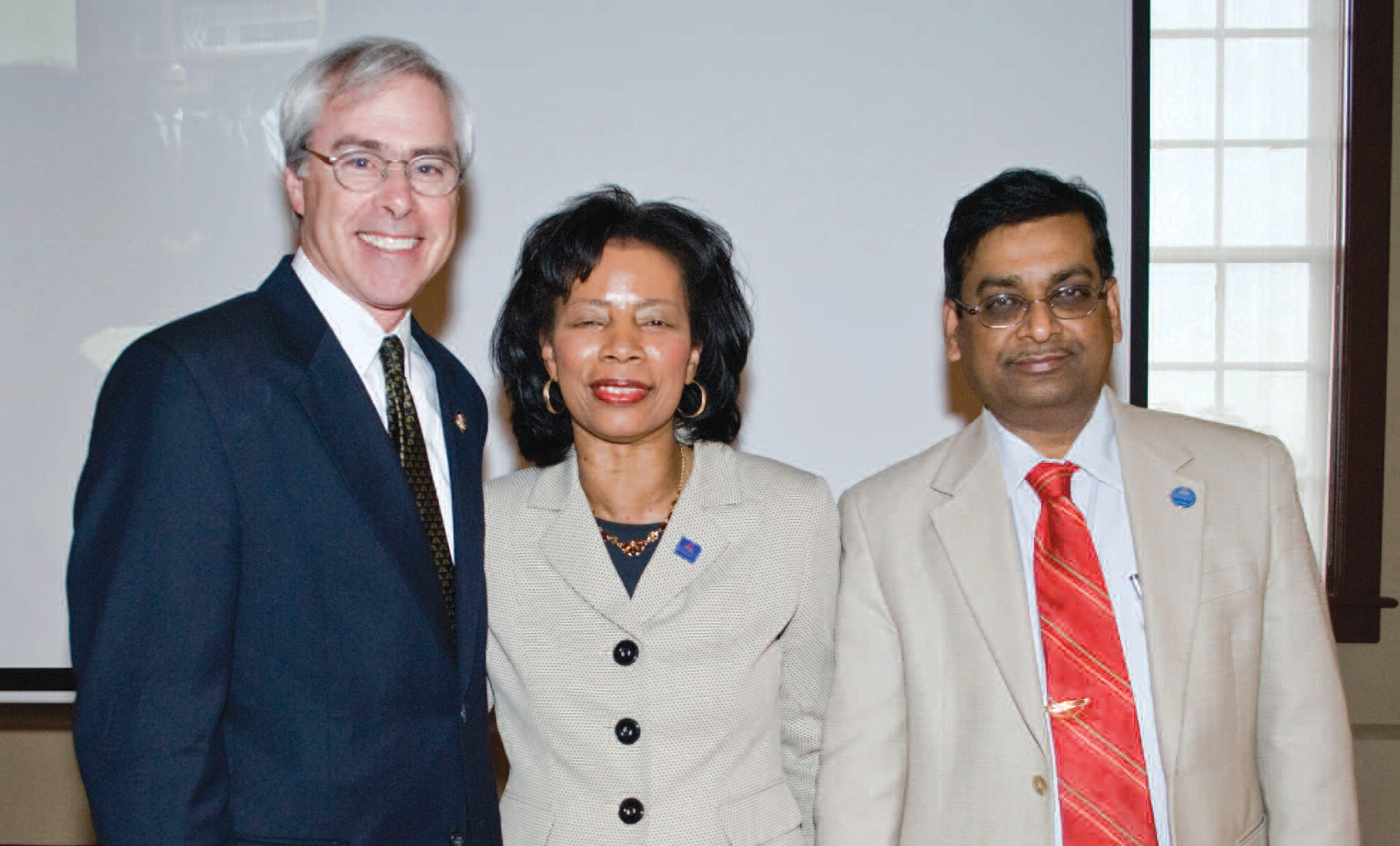Dr. Mary C. Wyatt, vice president for Academic Affairs at SSU; and Dr. Chellu Chetty, associate vice president for Research and Sponsored Programs at SSU