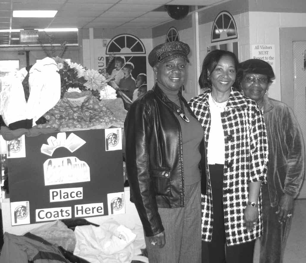 Pictured l-r: NCNW President Estelle Mannion, Dr. Debra Jones, Principal, Gadsden Elementary, and NCNW member Alma Addison