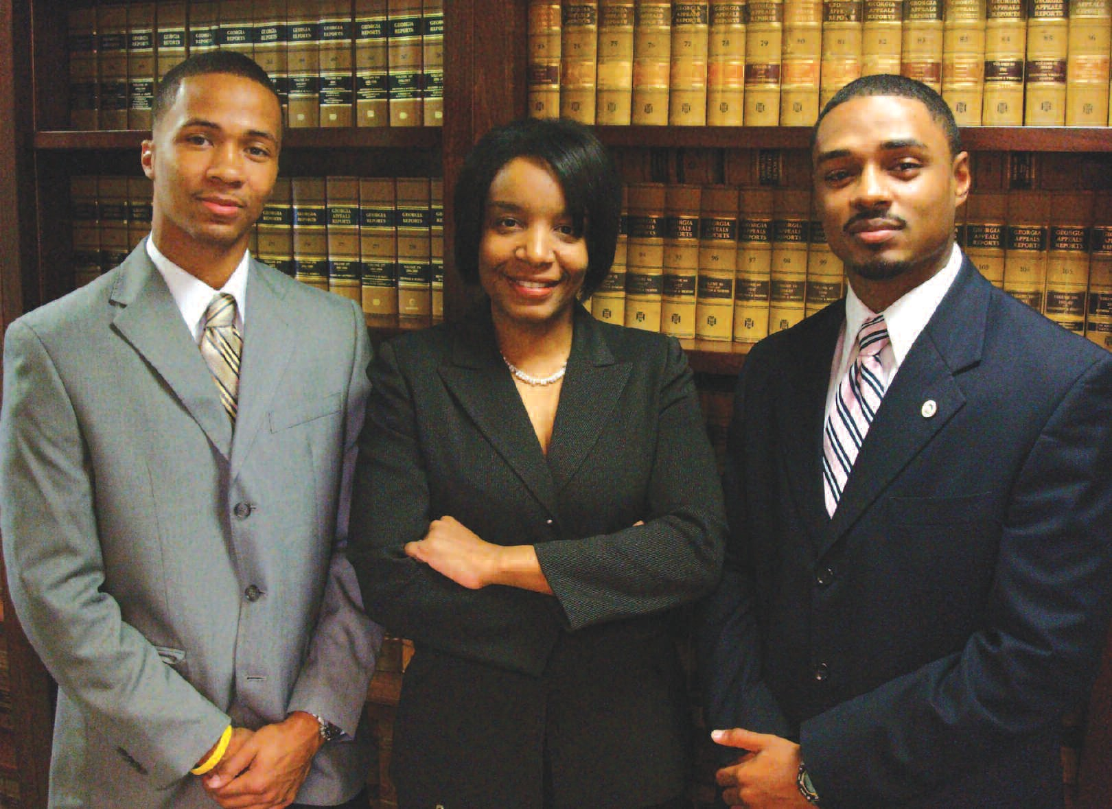 Pictured L to R are: Jonathan Drummond (Investigator), Kesha Gibson-Carter (Coordinator) and Christoper Brown (Intervention Specialist)