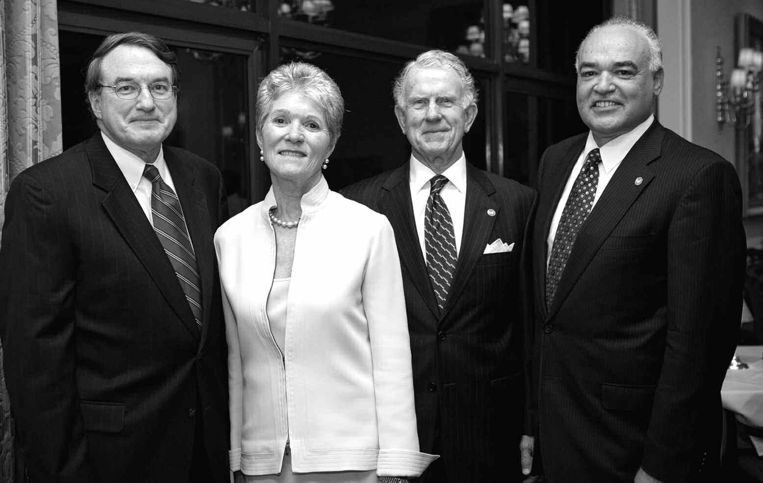 Left to Right: William T. Daniel, Memorial Health Chairman, Board of Directors, Elizabeth Anderson, Curtis Anderson, Phillip Schaengold,Memorial Health President and CEO.