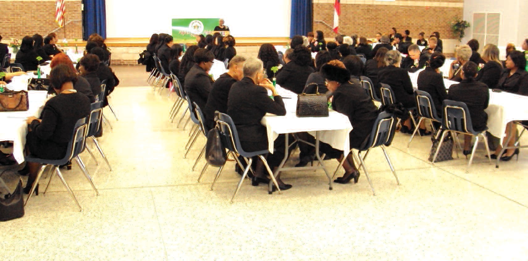 Members of Alpha Kappa Alpha Sorority Inc. are pictured during Founder's Day Celebration