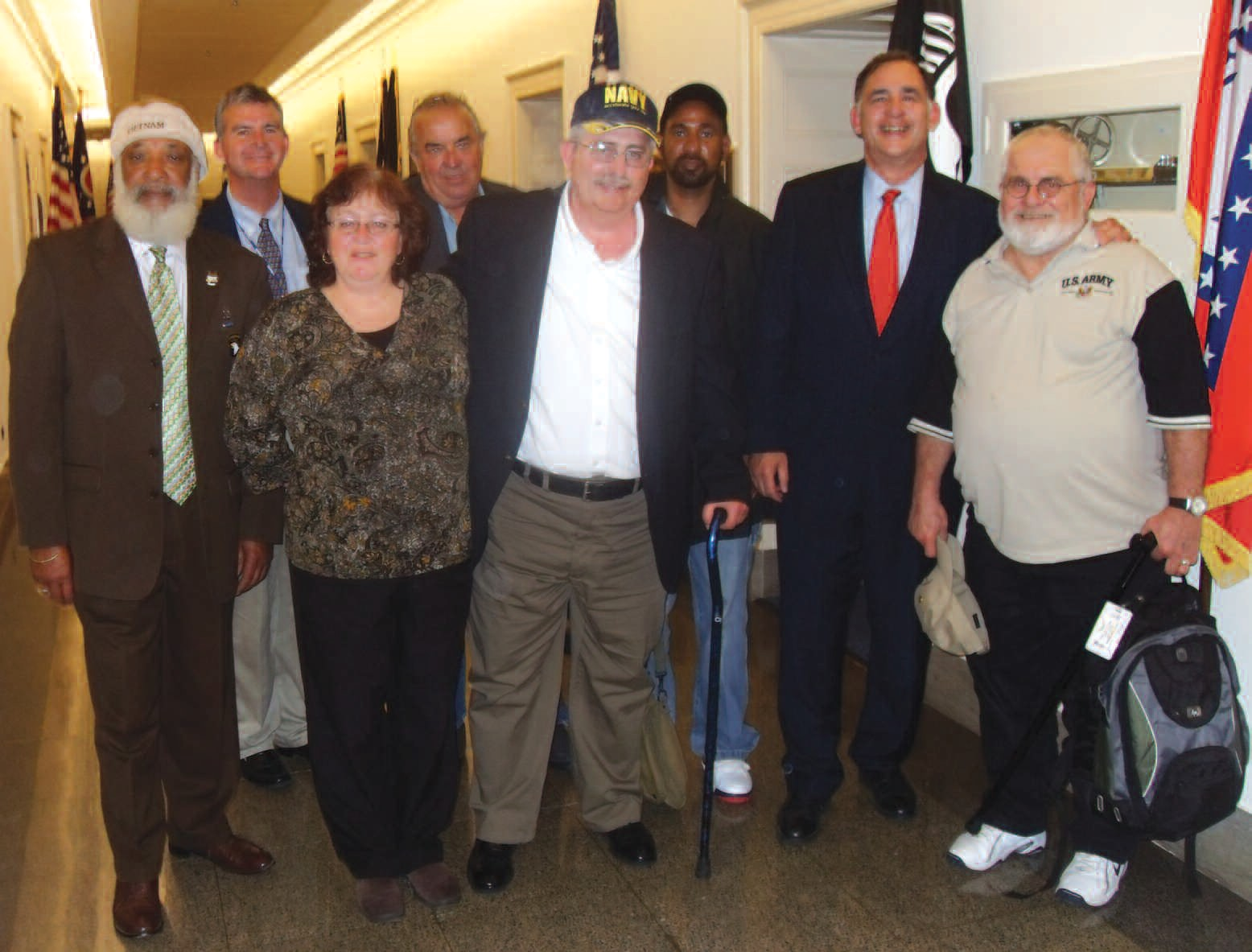 Veterans and supporters are pictured with John Boozman, Ranking member of the Economic Opportunity Subcommittee House Veterans Affairs Committee