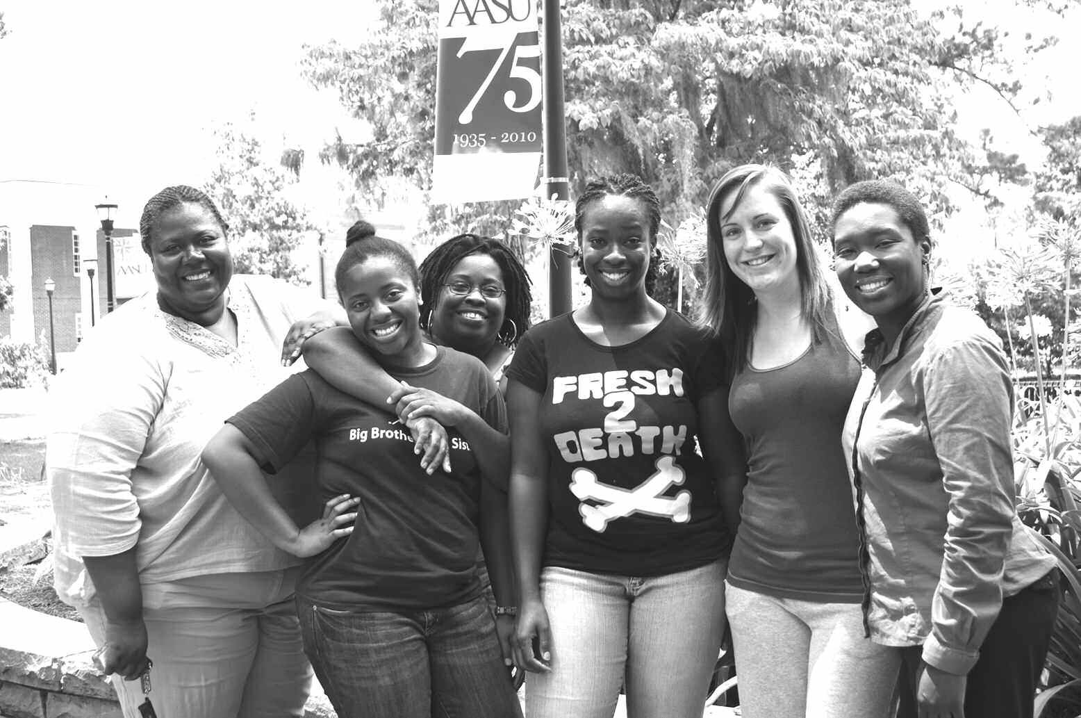 Sonya Brown (left), Jeanette Lovett, Tonya Wright (SSU), TaNika Roberts, Megan Ganser and Dr. Kalenda Eaton. Not pictured: Patrina Lingard.