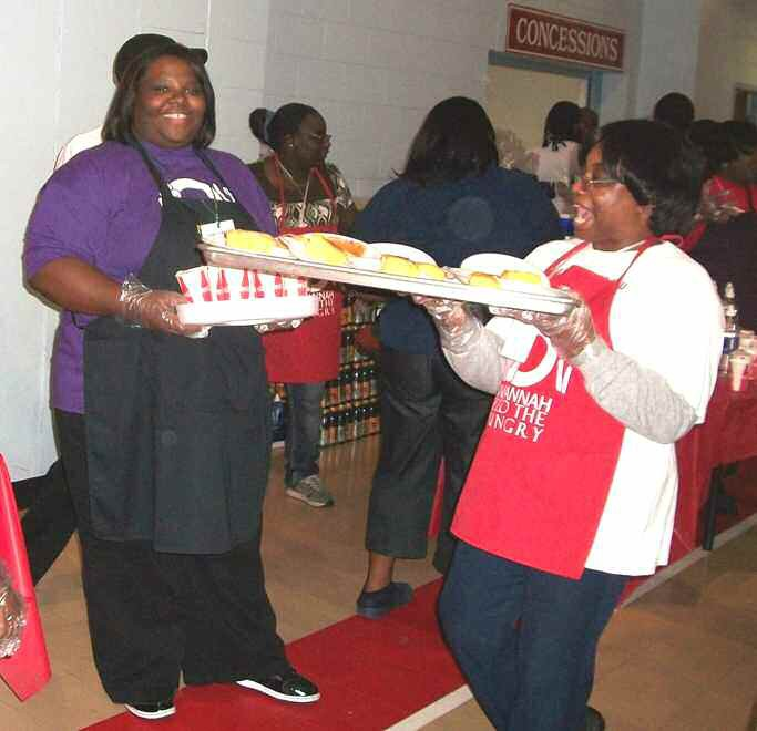 Arielle Davis, NCNW Financial Secretary, assisted during the Hosea Feed the Hungry Event at the Salvation Army
