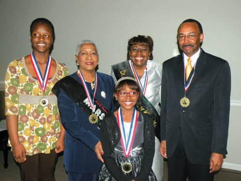 Pictured left to right are: Alexes Harris, Alderwoman Mary Osborne, Riche' Williams, Elizabeth K. Jackson, and District Attorney Larry Chisolm