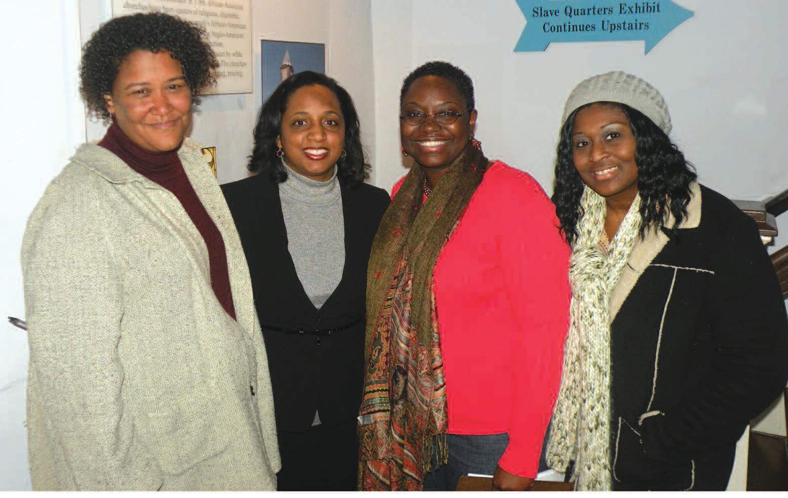 Dr. Leslie Harris, Emory University, Dr. Daina Ramey Berry, University of Texas, DaVena Sanders Jordan, AWOL, Lakesha Green, AWOL