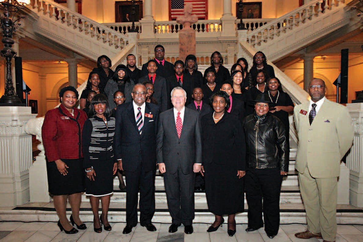 Governor Deal is joined by representatives and participants of the Prayer Convocation