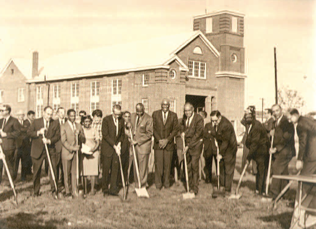 Groundbreaking for the YMCA at its current location on May Street