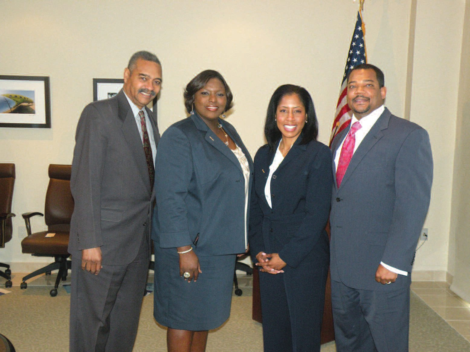 Pictured l-r are: Dr. Walter Evans, SEDA Minority Task Force, Shantell Wilson, Assistant Director of Established Business and Minority Task Force of SEDA, Jill Snell, and Ira Snell, President & CEO of Snell Enterprises