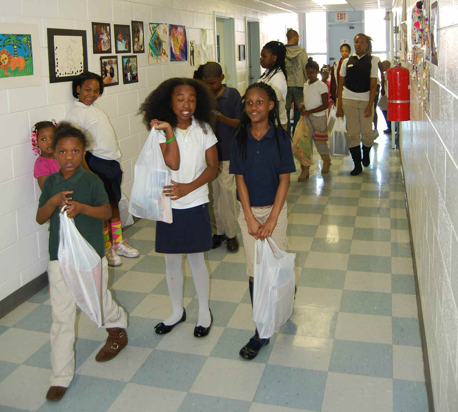 Kids of the West Broad Street YMCA received school supplies from Savannah Sunrise Rotary Club