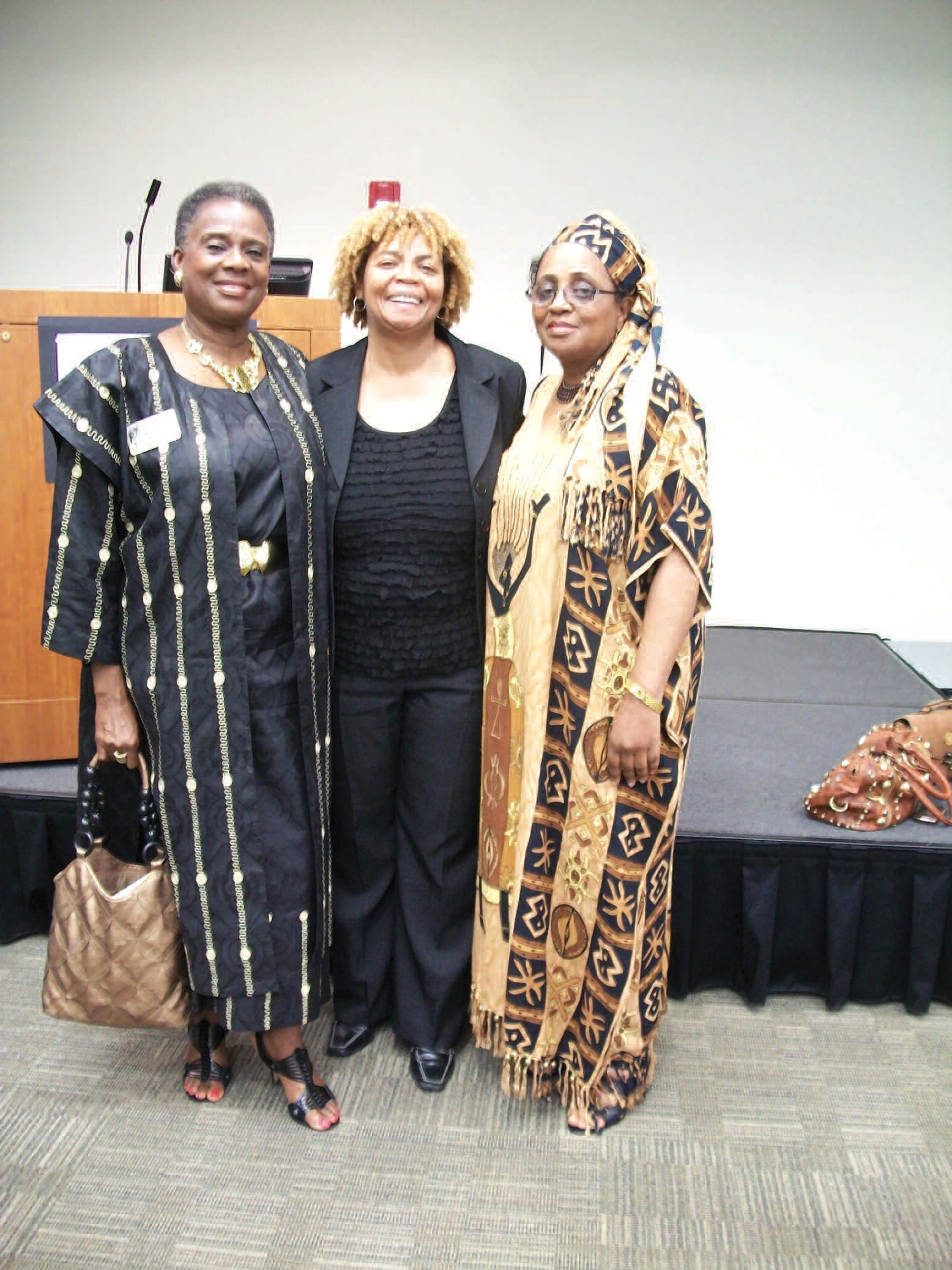NCNW President Ruby C. Hall (center) is joined by Past-Presidents Estelle Mannion (left) and Betty Lasseter (right) at the Harambee Breakfast.
