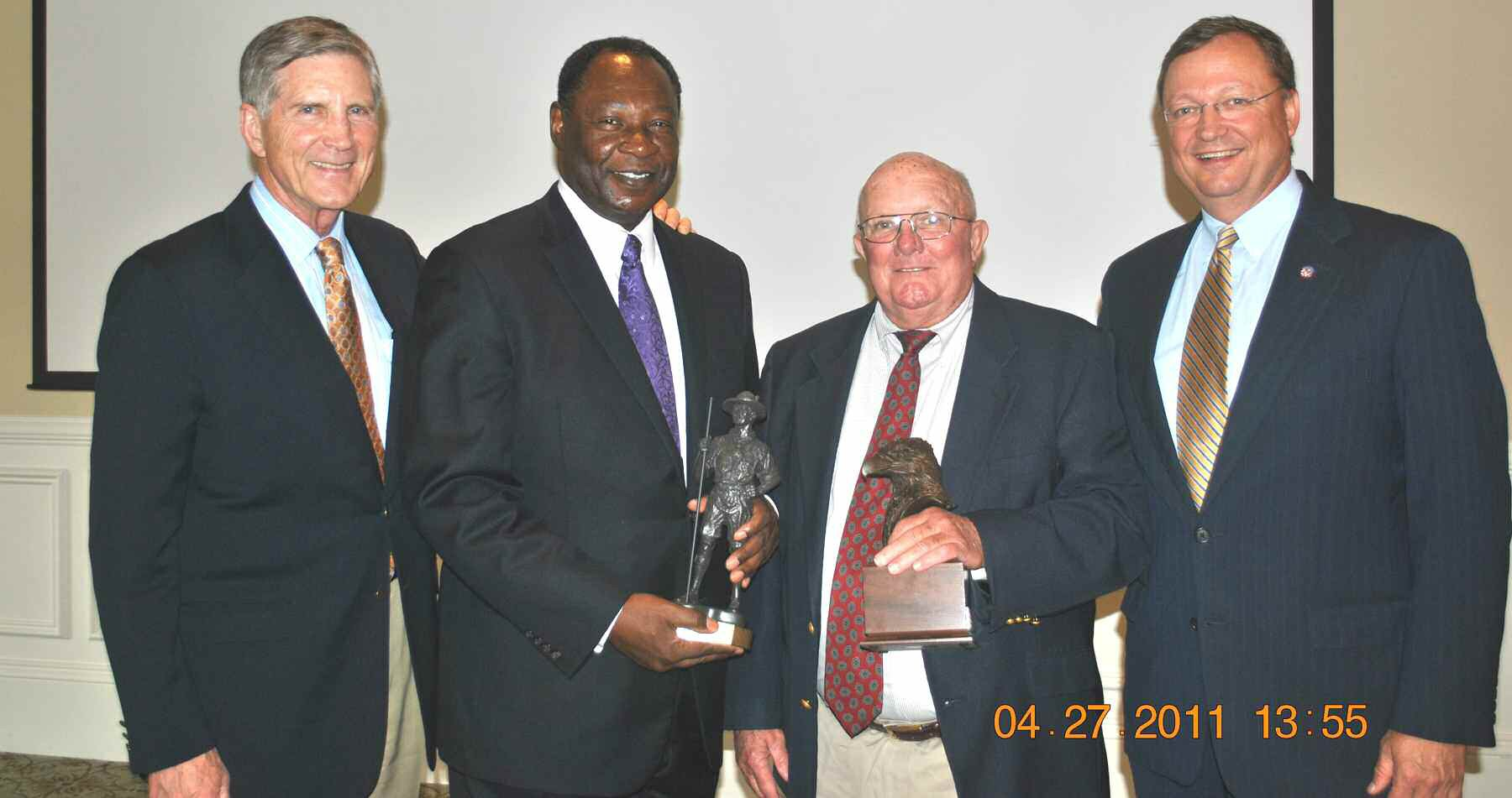 (L - R) Bill Curry, Robert James, Jerry Hogan and Pat O'Connor