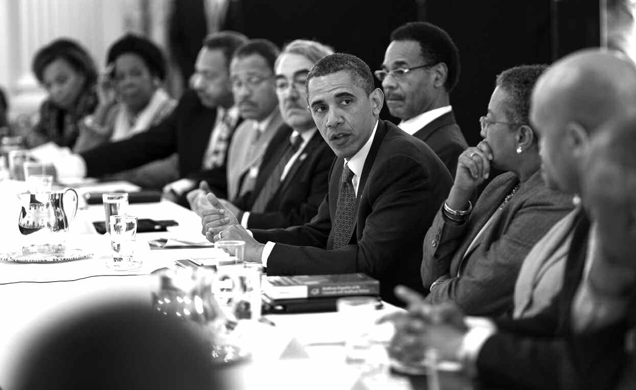 President Obama meets with members of the Congressional Black Caucus