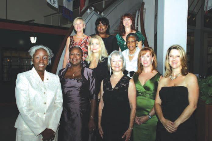 Pictured are: Top Row: Ellen Bolch, Zena McClain, Frances Carter. Middle Row: Deborah Hargroves, Pastor Verlene Warnock Bottom Row: Cynthia Johnson, Earline Wesley Davis, Iris Mack Dayoub, Janet Steffen, Clare Schexnyder