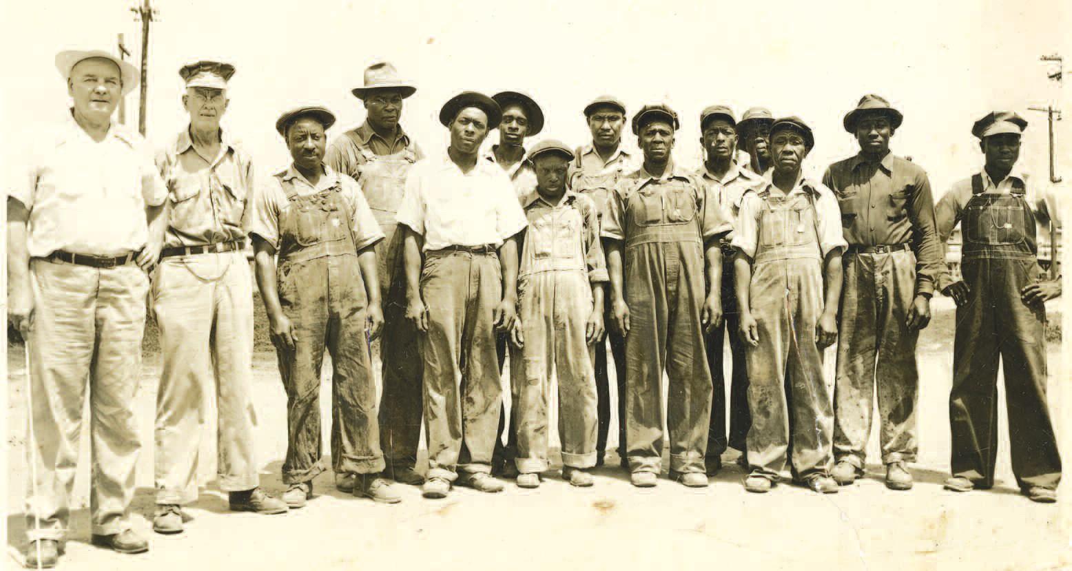 Foreman Frank Black, far left, and his crew kept the bridges in good repair for the railroad. Courtesy of Doris Blessington Eastside
