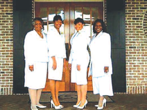 Left to right: President Dr. Connie Cooper, Ms. ZaDonna Slay, Ms. Kurtina Pollen and Vice President Beverly Hall at The Savannah Quarters Country Club in Pooler