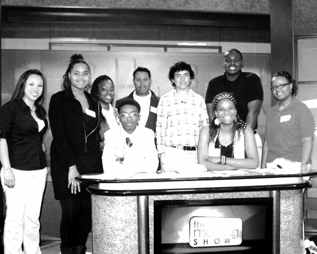 Left to right: Shamanta Ortiz, R. W. Groves High School, Ca'Bria Parker- Savannah Arts Academy, Alicea Harris- R. W. Groves High School, Eric Brantley- H.V. Jenkins High School, Tabbetha Murchison- H.V. Jenkins High School, Tyler Meuse- H.V. Jenkins High School, Shirley Headen- H.V. Jenkins High School, David Sterling, R. W. Groves High School, Quandalyn Waldon- H.V. Jenkins High School